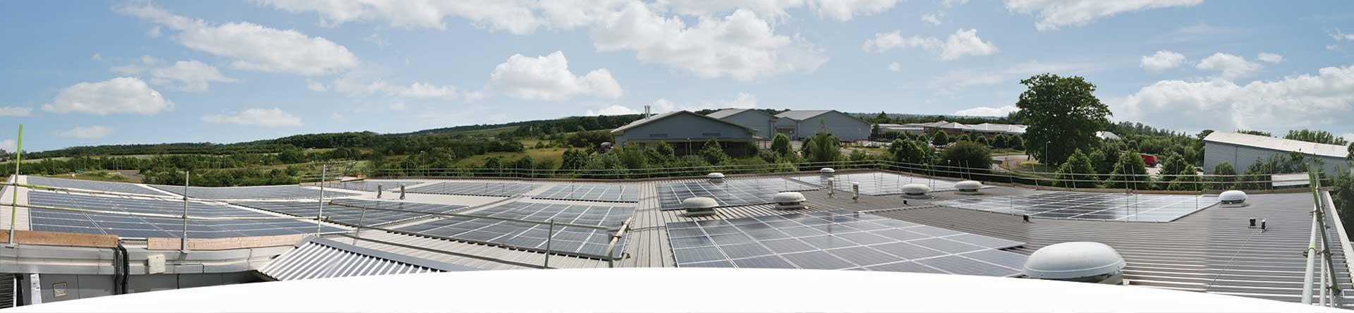 Panoramic View of Solar Panel at Db Engineering